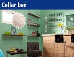 Shelves for your cellar bar. Your cellar bar in a modern design.