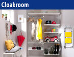 Shelf system for your cloakroom. Order and storage space in the hallway.