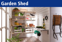 The shelf for your garden house.
