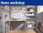 Order in the home work shop! Ideal for handymen.