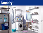 The shelf system for your laundry! Cleanliness and order.