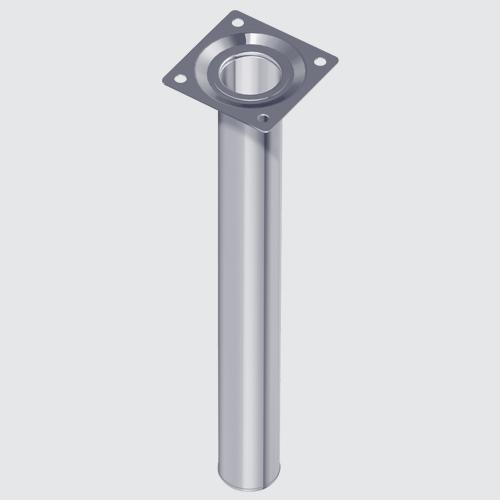 Stahlrohrfuss rund DM  30mm H200 mm schwarz