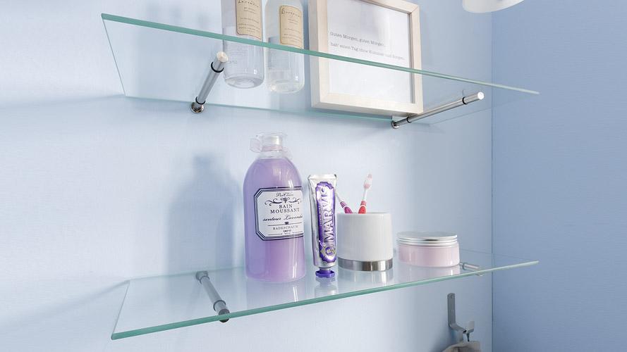salle de bain syst me d 39 tag res exemples d 39 application. Black Bedroom Furniture Sets. Home Design Ideas